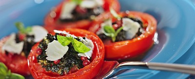 Pomodori agli aromi e ricotta salata