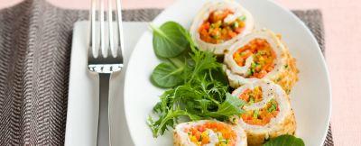 Bocconcini di pollo ripieni di verdure ricetta