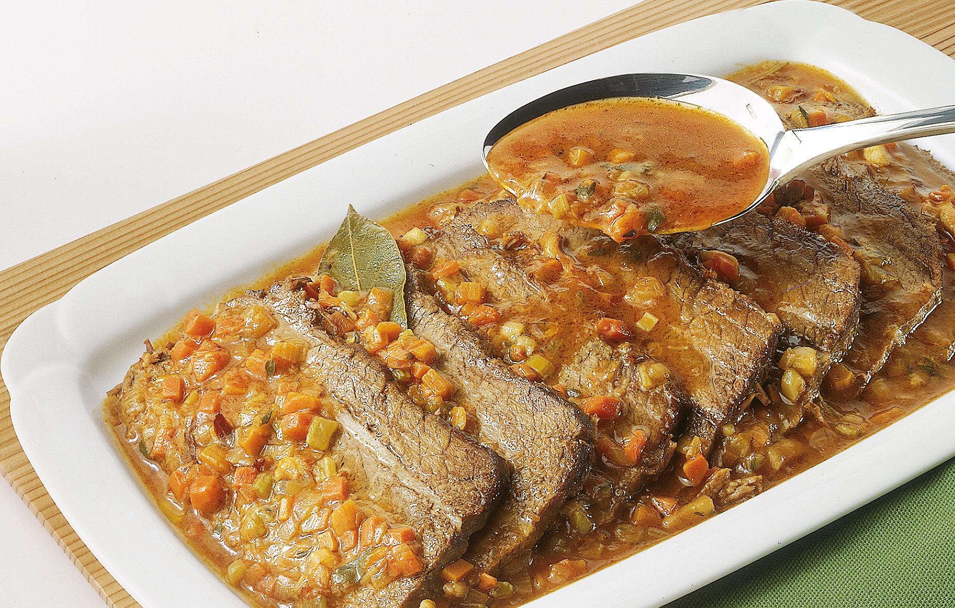 Come si prepara il brasato di manzo sale pepe for Cucina italiana ricette carne