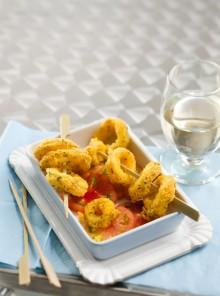 Calamari fritti in crosta di mais