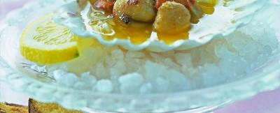 Capesante scalogni e limone