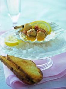 Capesante in salsa di limone