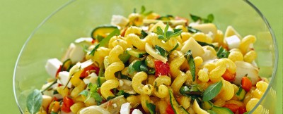 Cellentani  formaggi e verdure ricetta