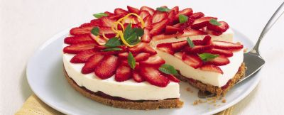 Cheesecake rosso fragola