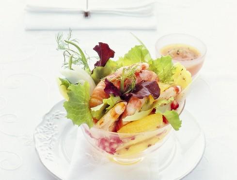 cocktail di gamberi e frutta Sale&Pepe