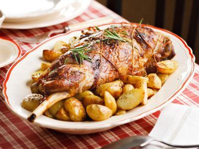 cosciotto al forno con le patate ricetta