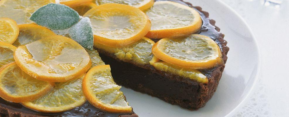 Crostata al cacao con arance amare  Sale&Pepe