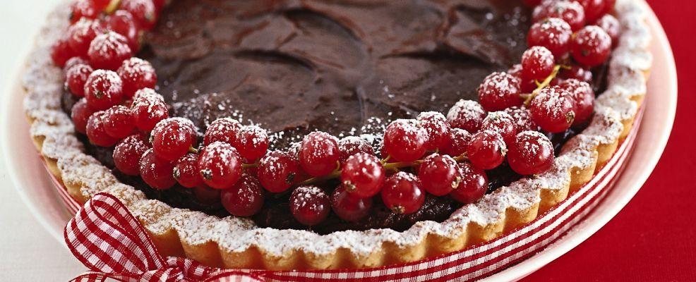 crostata al cioccolato con ribes rosso Sale&Pepe ricetta