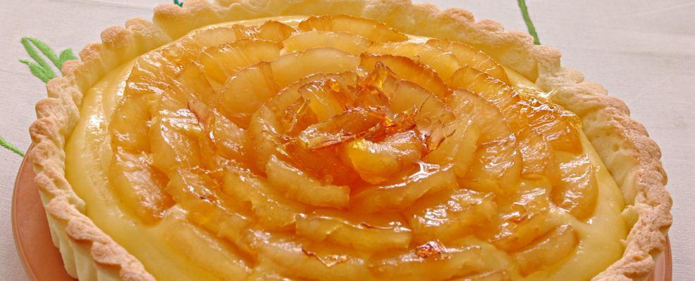 Crostata di pasta frolla alla crema morbida Sale&Pepe.