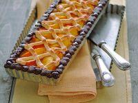Crostata di pesche e cioccolato Sale&Pepe ricetta