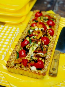Crostata di verdure grigliate e scamorza