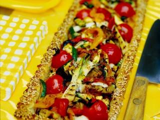 crostata di verdure grigliate e scamorza Sale&Pepe