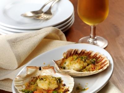 dab e capesante gratinate per un gustosissimo antipasto ricetta