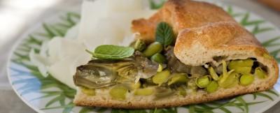 focaccia siciliana con la frittedda ricetta