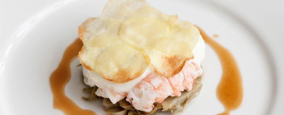foto Tortino di scampi, carciofi e patate Sale&Pepe