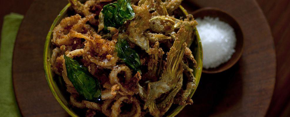 Frittino con calamari e basilico Sale&Pepe