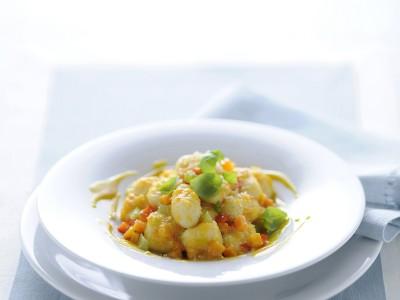 gnocchi con ragù di verdure aromatizzati con glassa di vitello