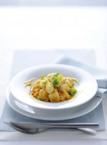 Gnocchi di patate con ragù di verdure e glassa di vitello