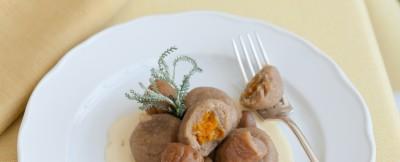 Gnocchi di castagne con zucca