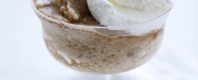 granita tipo siciliana con aggiunta di panna