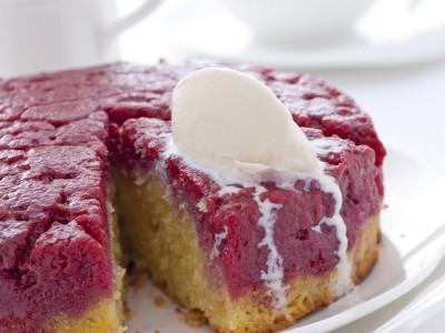 immagine Ricetta tatin di lamponi con gelato