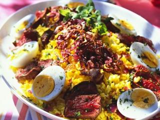 insalata di riso, carne e uova Sale&Pepe ricetta