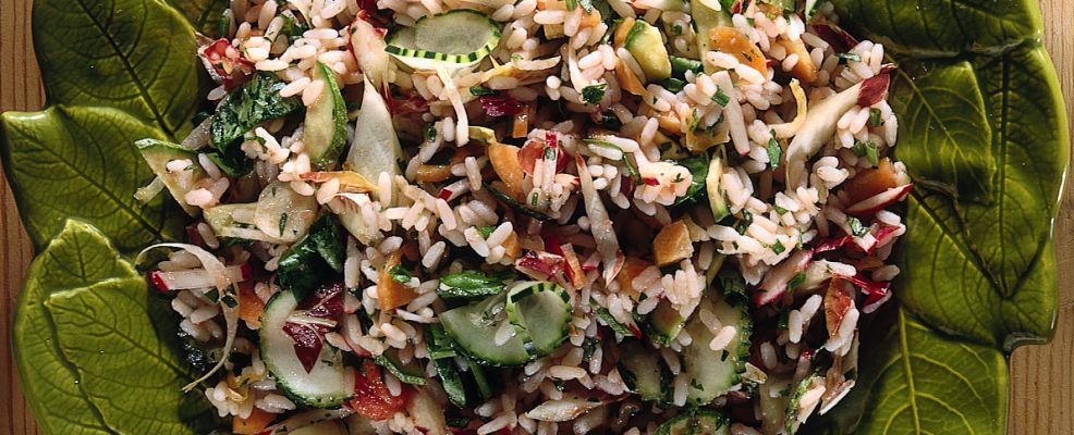 Insalata di riso con zucchine