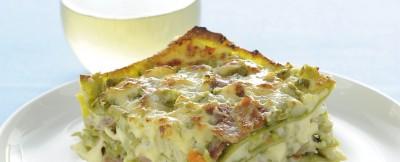 pasticcio verde con culatello e salsa Mornay ricetta