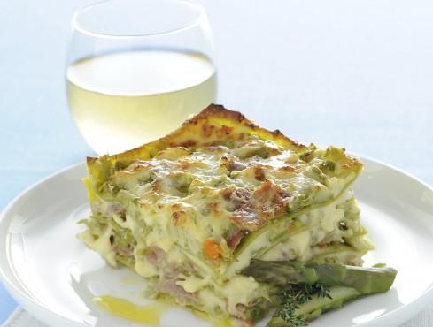 lasagne con asparagi, culatello e salsa Mornay Sale&Pepe ricetta
