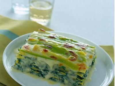 lasagne vegetariane con erbe