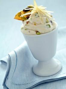 Mousse al croccante di pistacchi