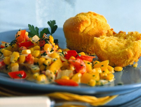 Muffin di mais con contorno di verdure Sale&Pepe ricetta