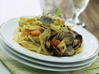 Pasta con carciofi e vongole Sale&Pepe ricetta