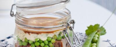 Ricetta pasticcio allo zafferano con pisellini e puré di patate