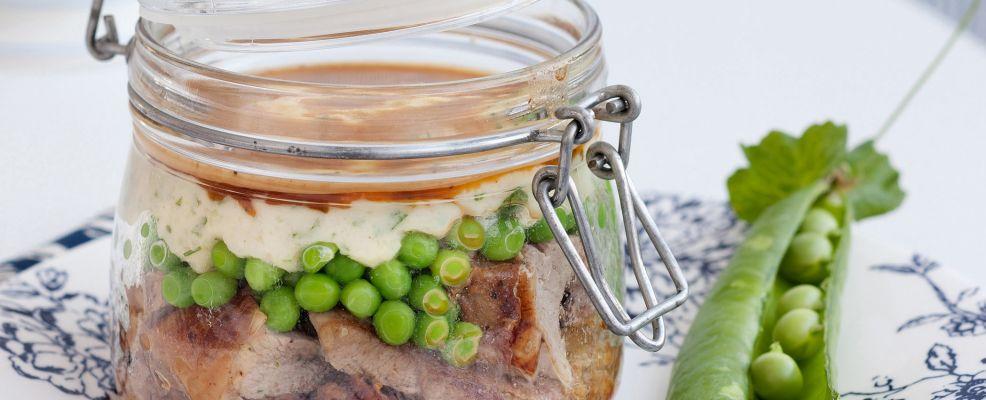 Pasticcio allo zafferano con pisellini e puré di patate Sale&Pepe