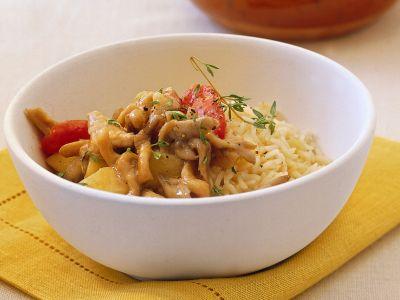 Ricetta pilaf con orecchiette, patate e pancetta step