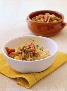 Pilaf con orecchiette, patate e pancetta