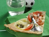 Pizza di sfoglia carasau con le sarde Sale&Pepe