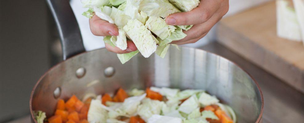 Rago oca con verza e polenta Sale&Pepe