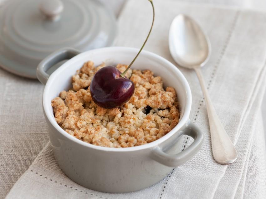 ricetta crumble di ciliegie Sale&Pepe