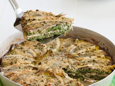 ricetta Ricetta torta acciughe e verdure