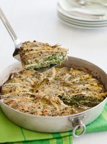 Torta salata di acciughe e verdure