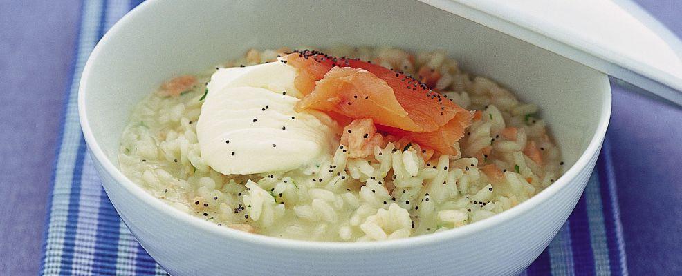 Risotto al salmone con semi di papavero Sale&Pepe