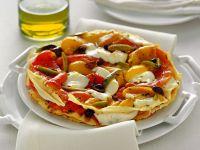 Sfogliata con peperoni, bufala e olive nere Sale&Pepe
