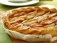 Sfogliata agli aromi con peperoni e mozzarella Sale&Pepe