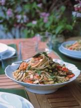 Spaghetti gamberi e zucchine Sale&Pepe