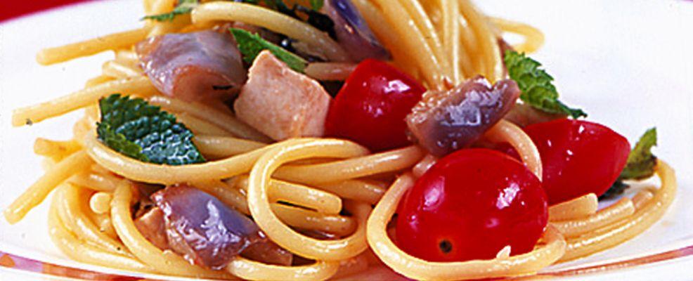 Spaghetti spada e melanzane Sale&Pepe