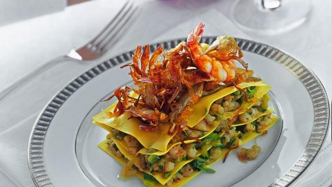 Torrette con zucchine e gamberi Sale&Pepe ricetta