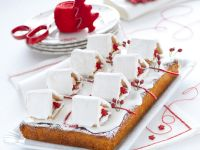 Torta con pasta di mandorle e casette innevate Sale&Pepe foto