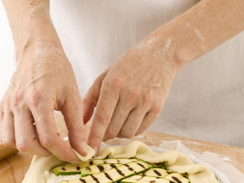 Torta salata aperta con ricotta e zucchine Sale&Pepe immagine